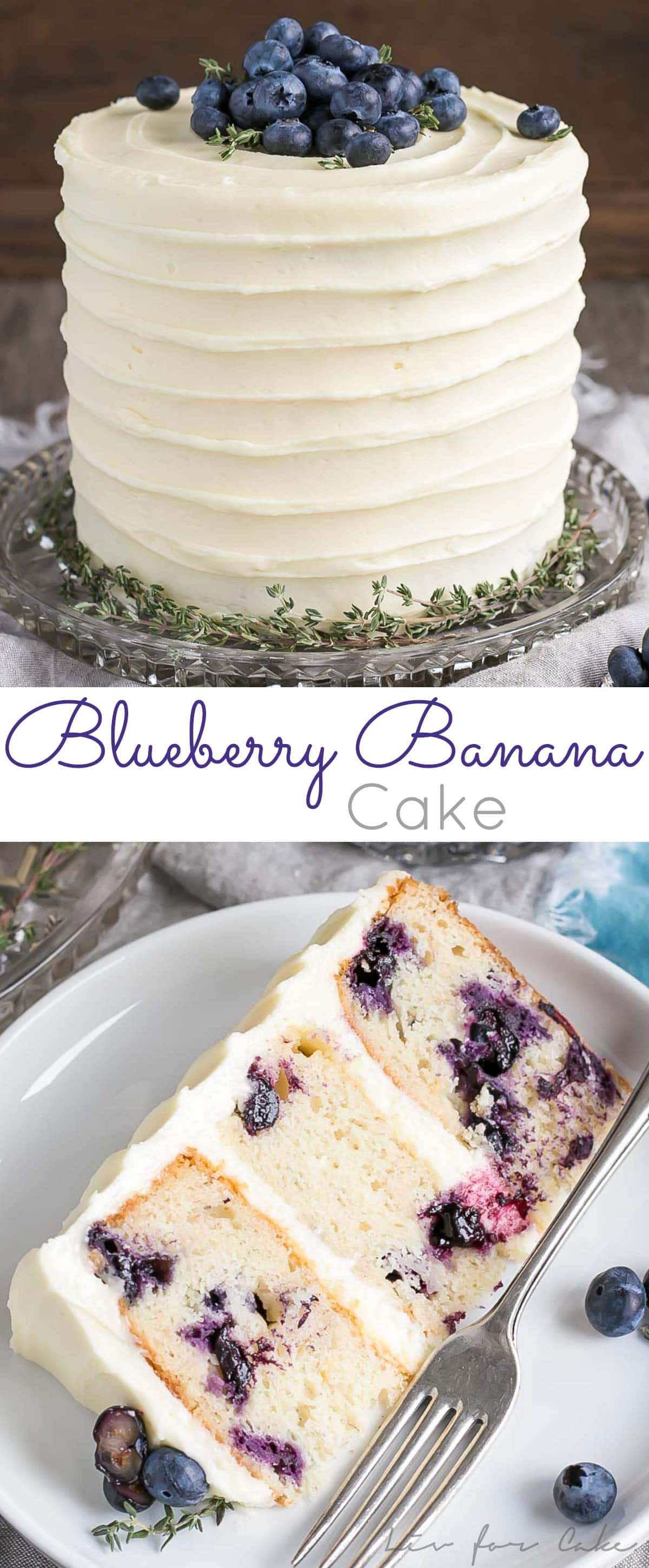 banana wedding cake recipe blueberry banana cake with cheese frosting liv for 11062