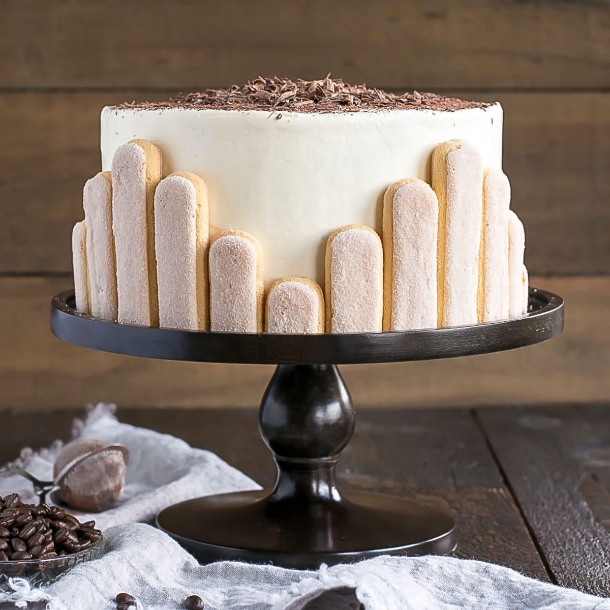 Cool Tiramisu Cake With Mascarpone Buttercream Liv For Cake Funny Birthday Cards Online Necthendildamsfinfo