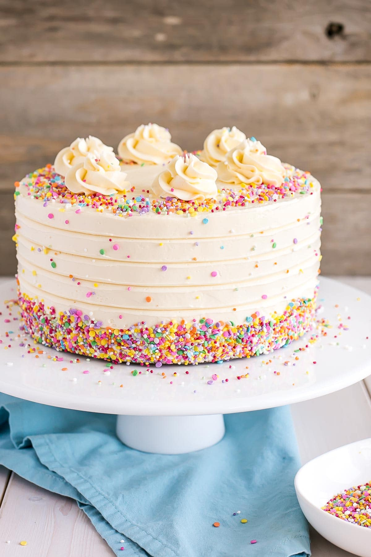 The Best Vanilla Cake Recipe With A Swiss Meringue Buttercream