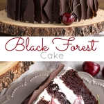 Black forest cake photo collage