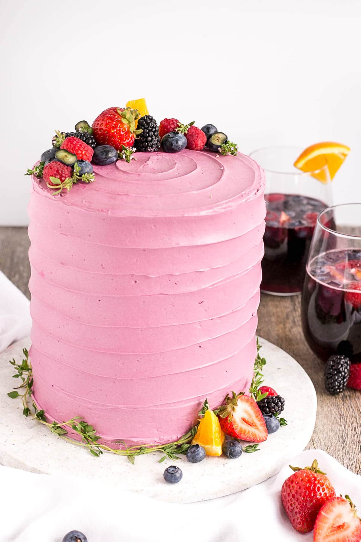 Sangria Cake - Liv for Cake