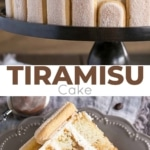 tiramisu cake photo collage