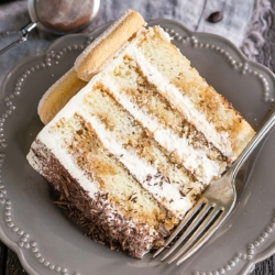 slice of cake on a plate thumbnail
