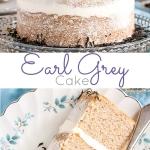 Earl Grey Cake photo collage.