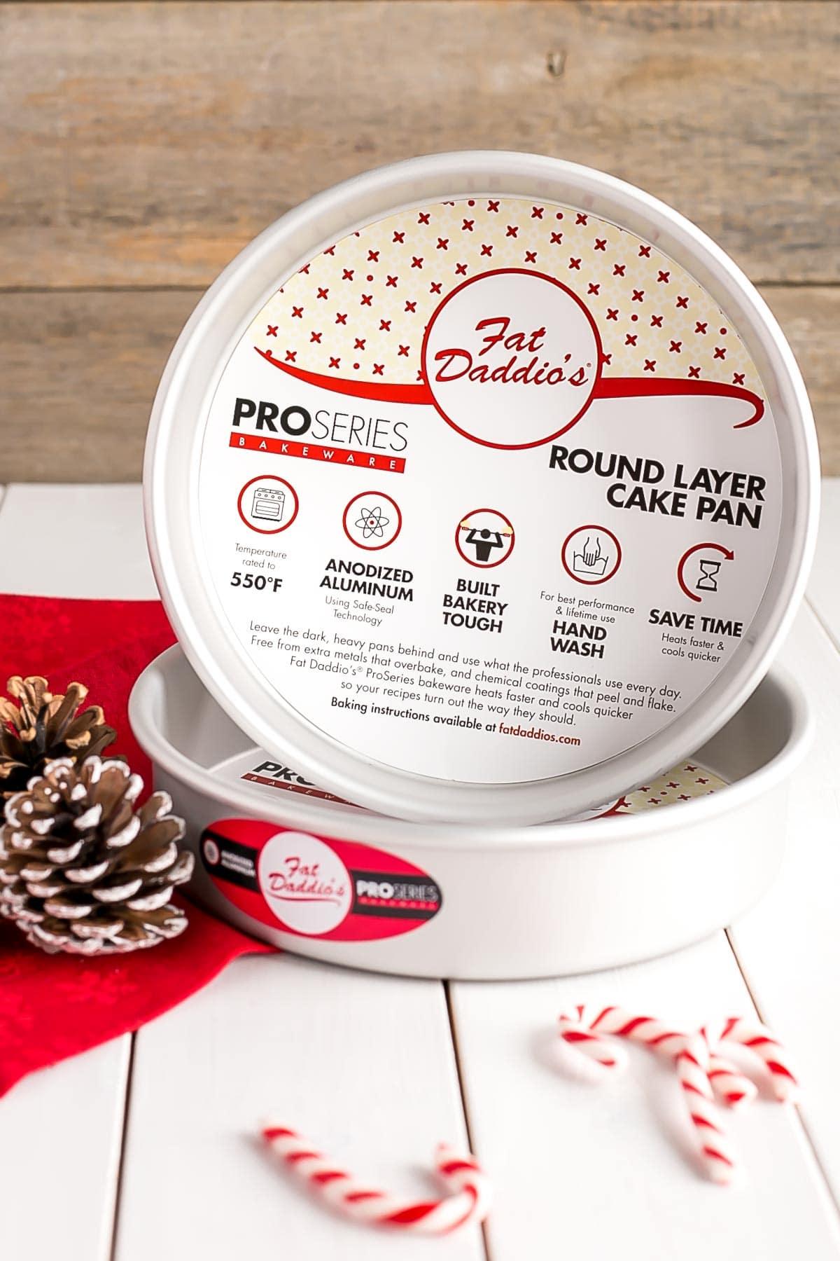 Fat Daddio's cake pans.