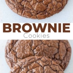 These brownie cookies are your favourite chewy chocolate brownies in cookie form! | livforcake.com