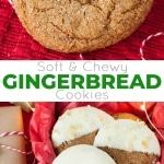 These Snow Capped Gingersnaps are the perfect holiday cookies! Chewy gingerbread cookies dipped in white chocolate and topped with crystallized ginger. | livforcake.com