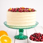 Cranberry Orange Cake with Cream Cheese Frosting