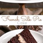 Chocolate cake photo collage