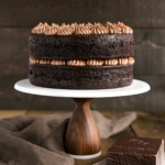 French Silk Pie Cake (Copycat Deep'n Delicious Chocolate Cake)