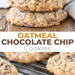 The only oatmeal cookie recipe you will ever need! Soft and chewy oatmeal chocolate chip cookies loaded with oats and chocolate chips! | livforcake.com