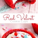 Photo collage of cookie cups
