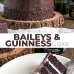 Baileys & Guinness Cake Collage