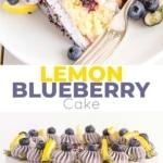 Lemon Blueberry Cake! A moist and delicious lemon cake with fresh blueberries and a blueberry buttercream. | livforcake.com