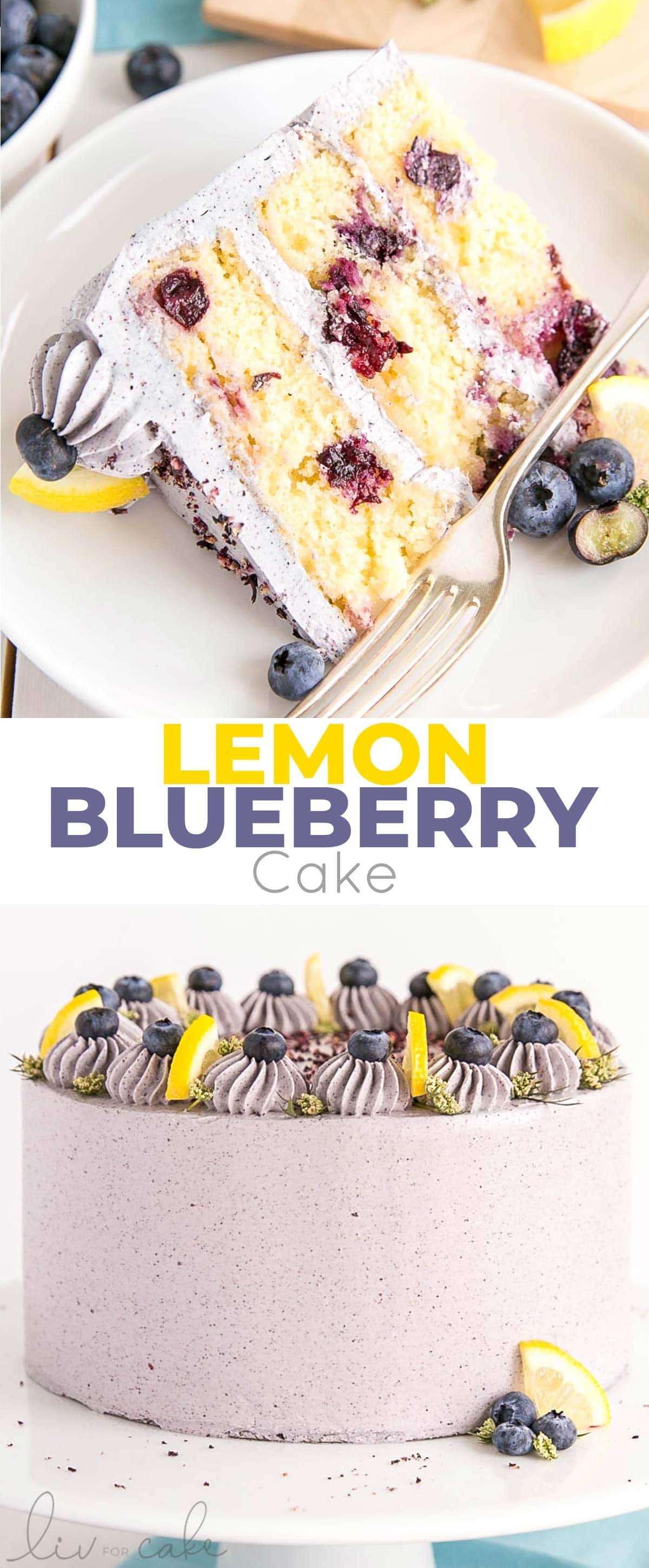 Lemon Blueberry Cake photo collage