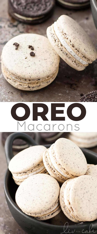 Oreo macaron photo collage