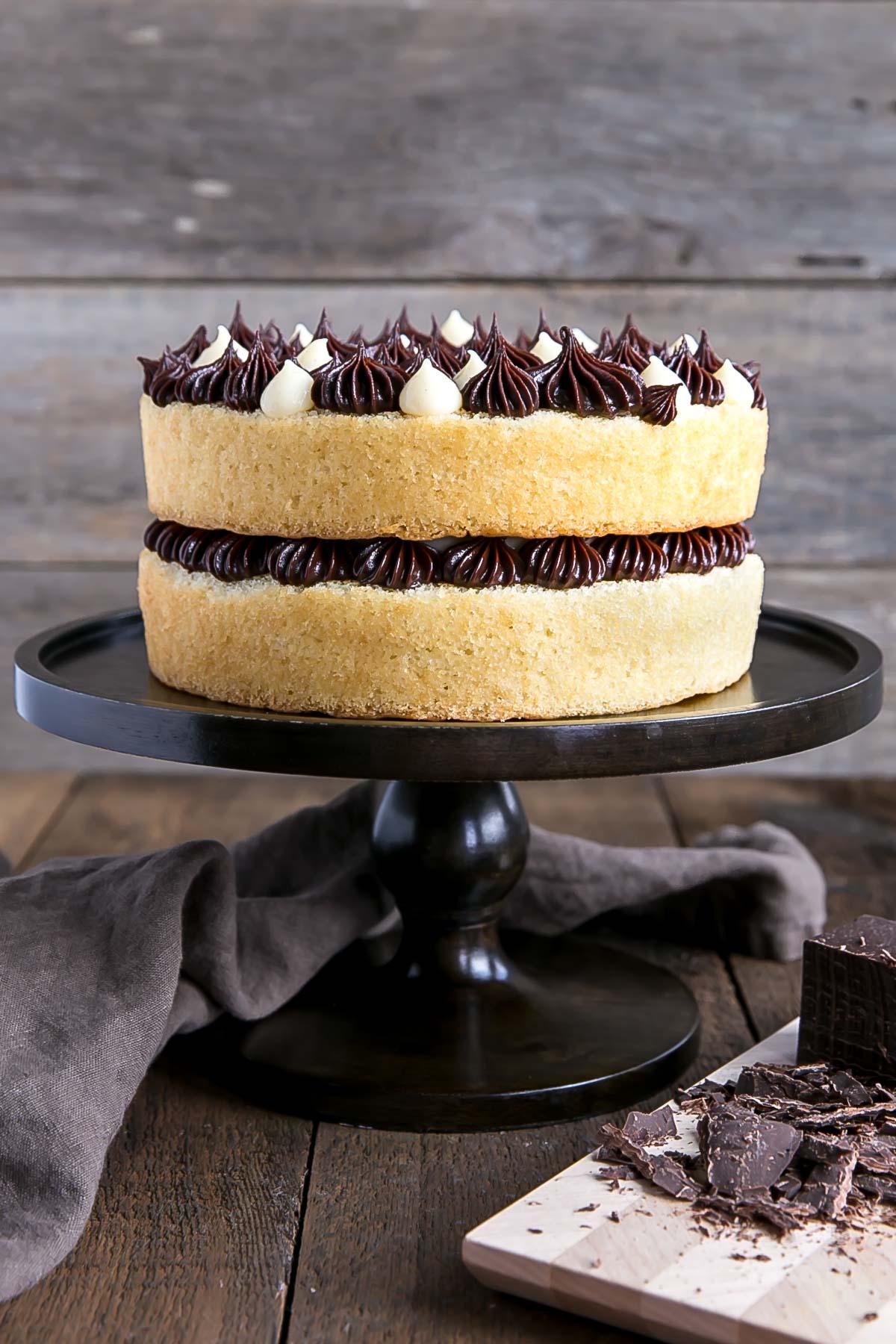 Classic Boston Cream Pie - vanilla cake, custard, chocolate ganache