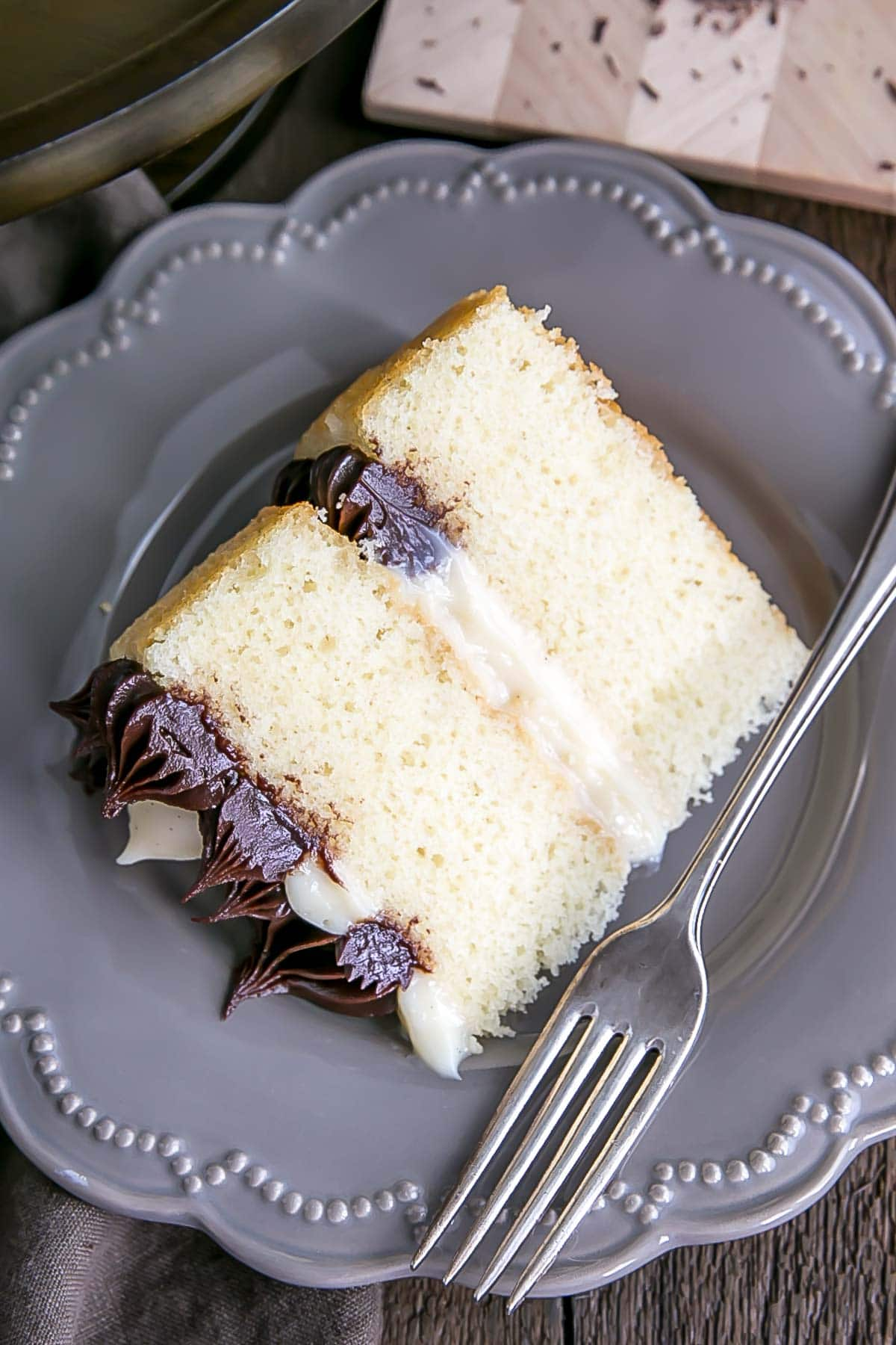 Slice of Boston Cream Pie