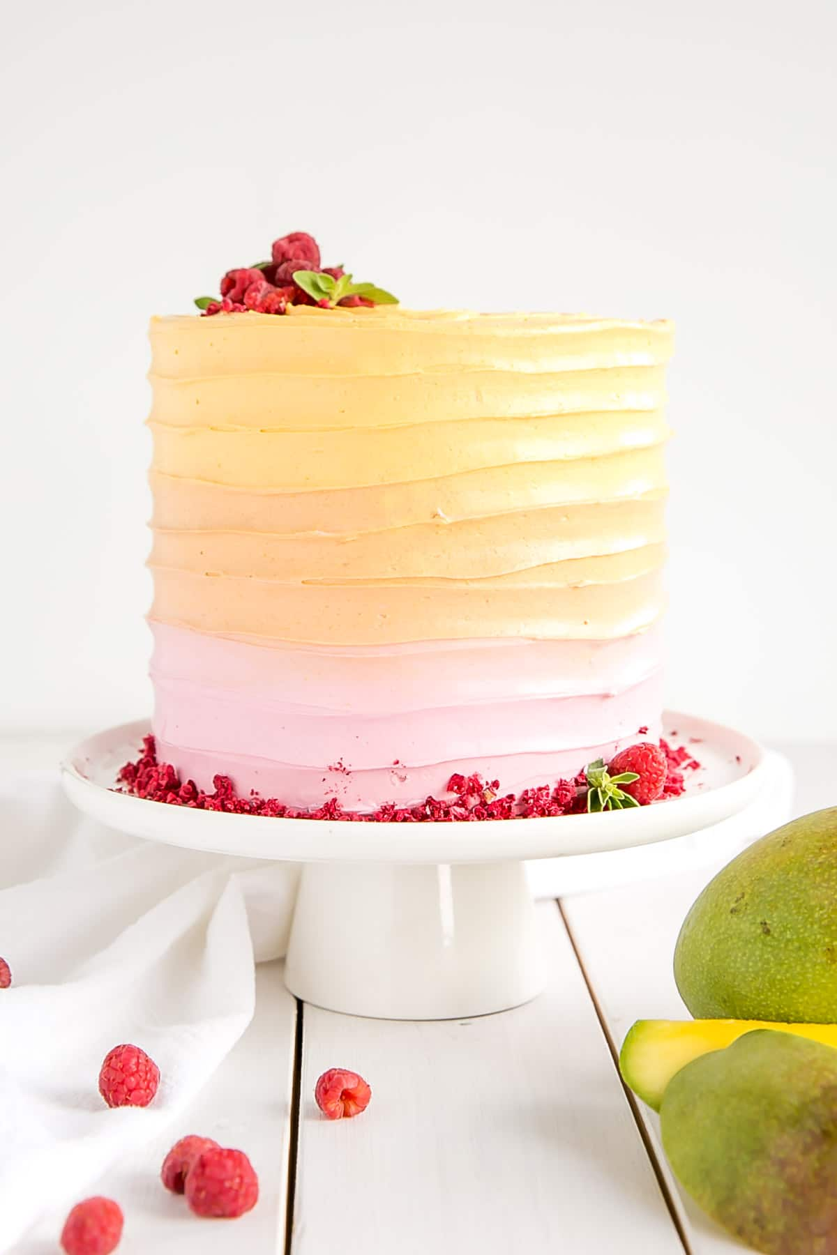 Raspberry Mango Cake - Liv for Cake