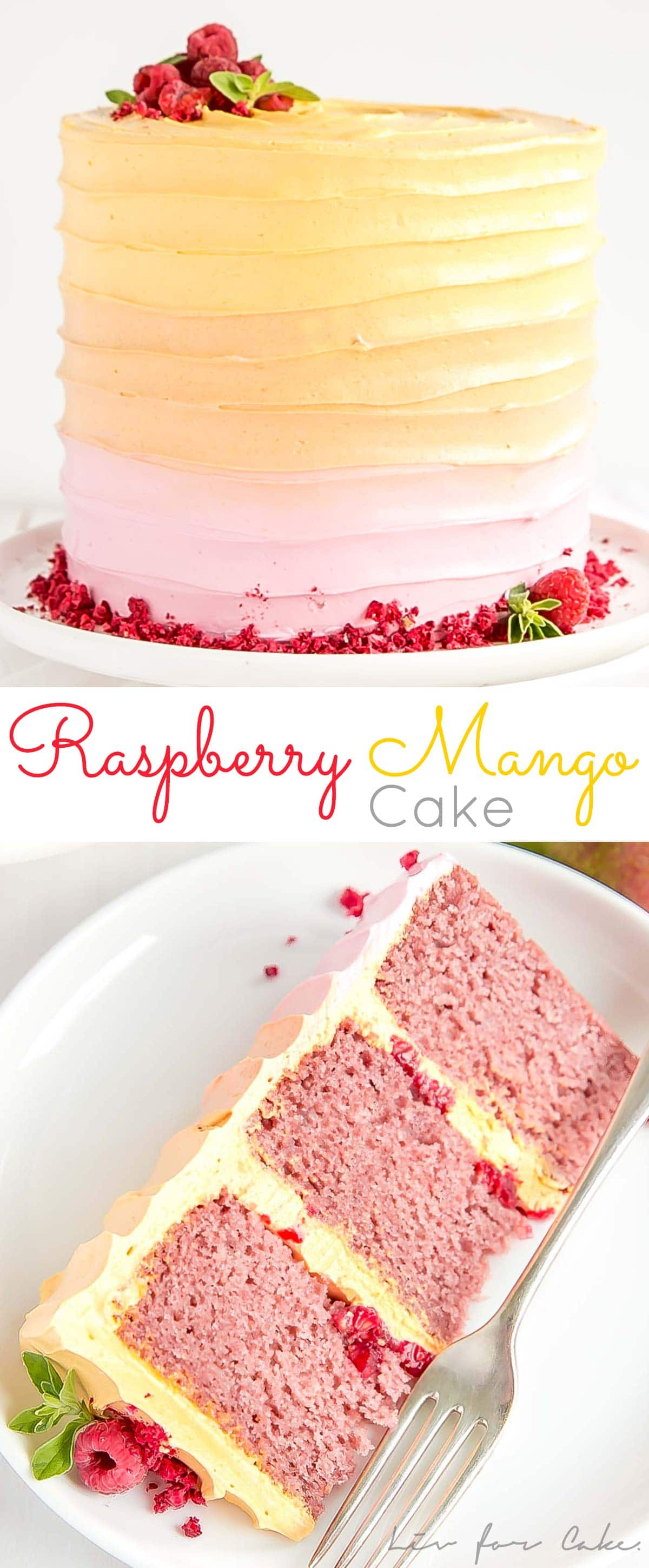 This Raspberry Mango Cake is the perfect way to celebrate the summer months!