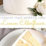 Lemon Elderflower Cake photo collage
