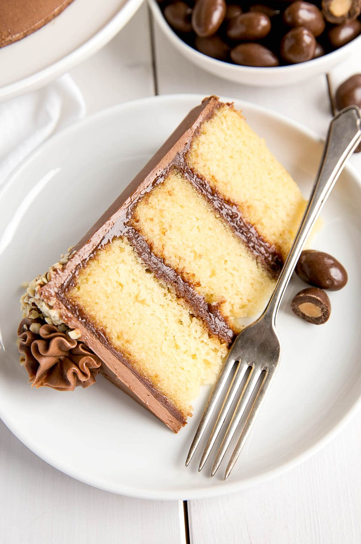 Milk Chocolate Almond Cake slice