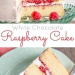 This White Chocolate Raspberry Cake combines white chocolate cake layers with a white chocolate swiss meringue buttercream, fresh raspberries, and raspberry jam. A perfect flavour combination!   livforcake.com