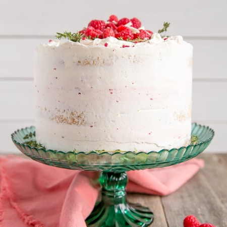 A decorated cake on a cake stand