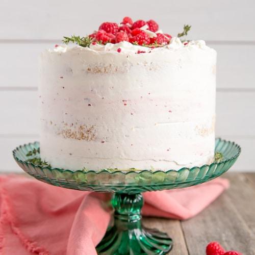 Groovy White Chocolate Raspberry Cake Liv For Cake Personalised Birthday Cards Akebfashionlily Jamesorg