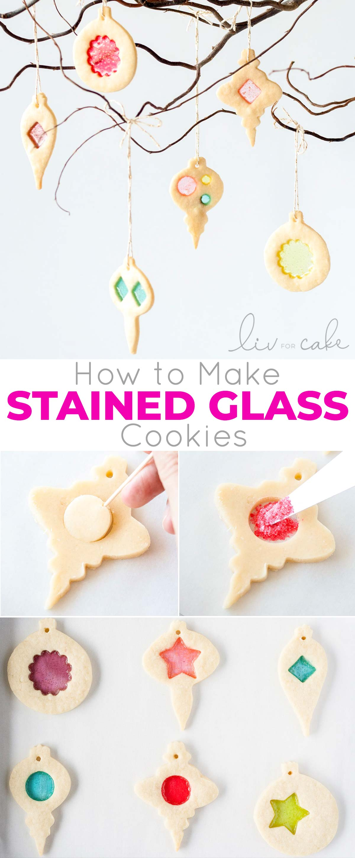 Stained Glass Cookies Photo Collage