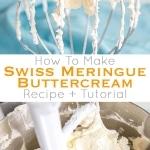 Swiss meringue buttercream photo collage.