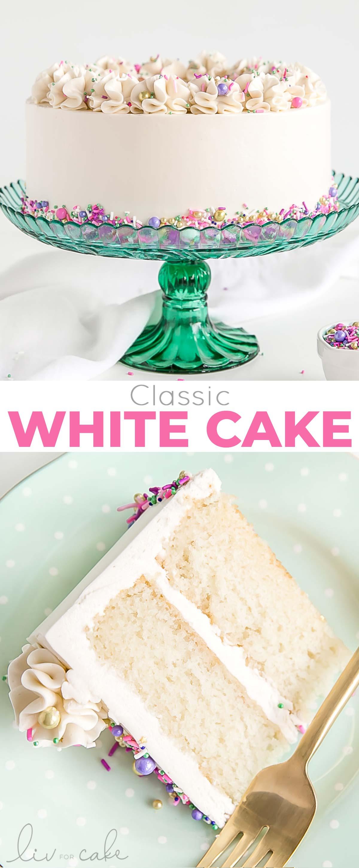 white cake collage