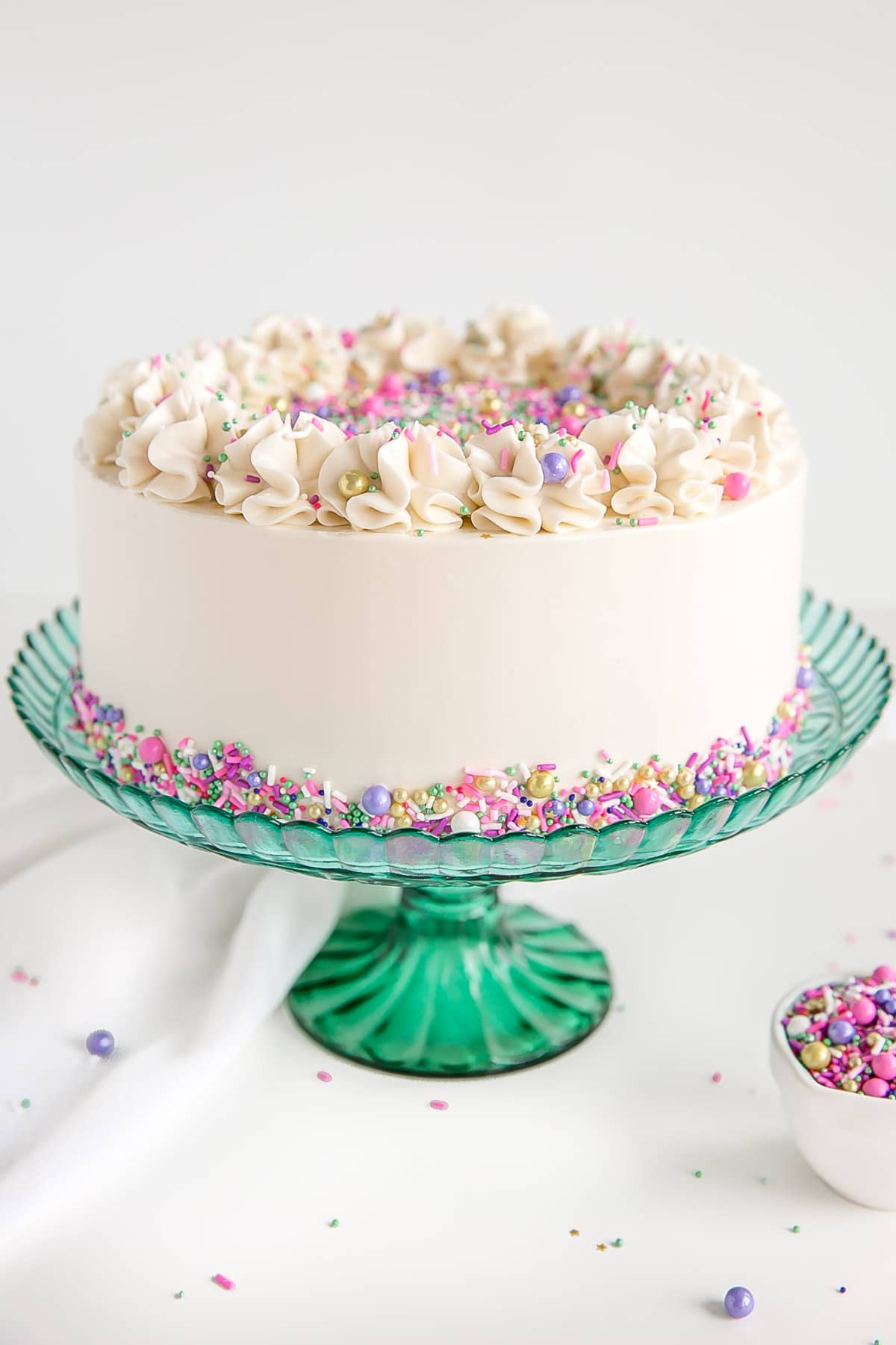 White cake with white buttercream.