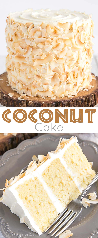 Coconut Cake photo collage