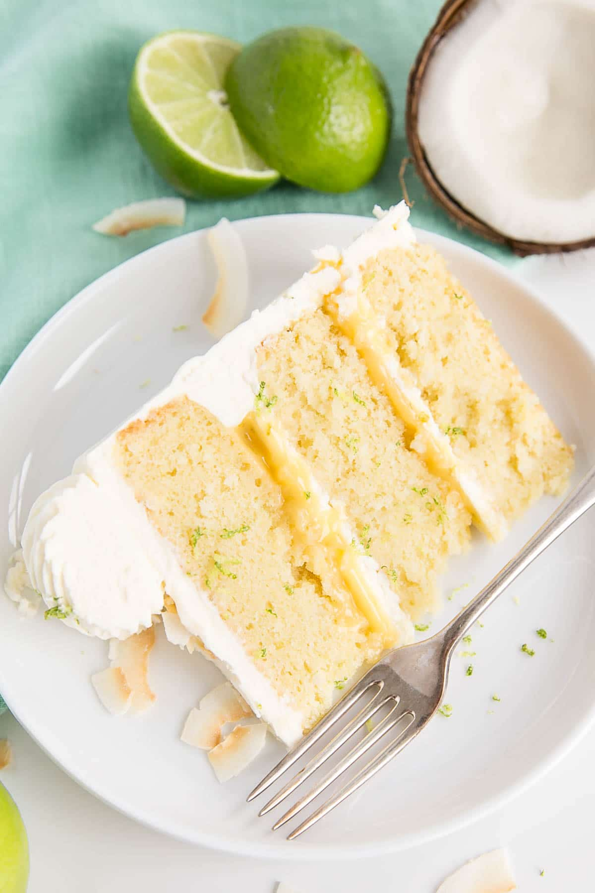 Slice of Lime & Coconut Cake