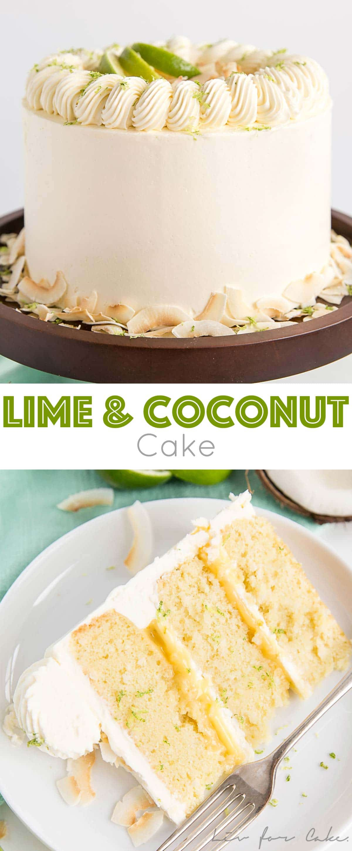 This Lime & Coconut Cake evokes the very best of those tropical island flavours. Tender coconut lime cake layers with a tangy lime curd and silky coconut buttercream.