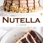 Nutella cake photo collage.