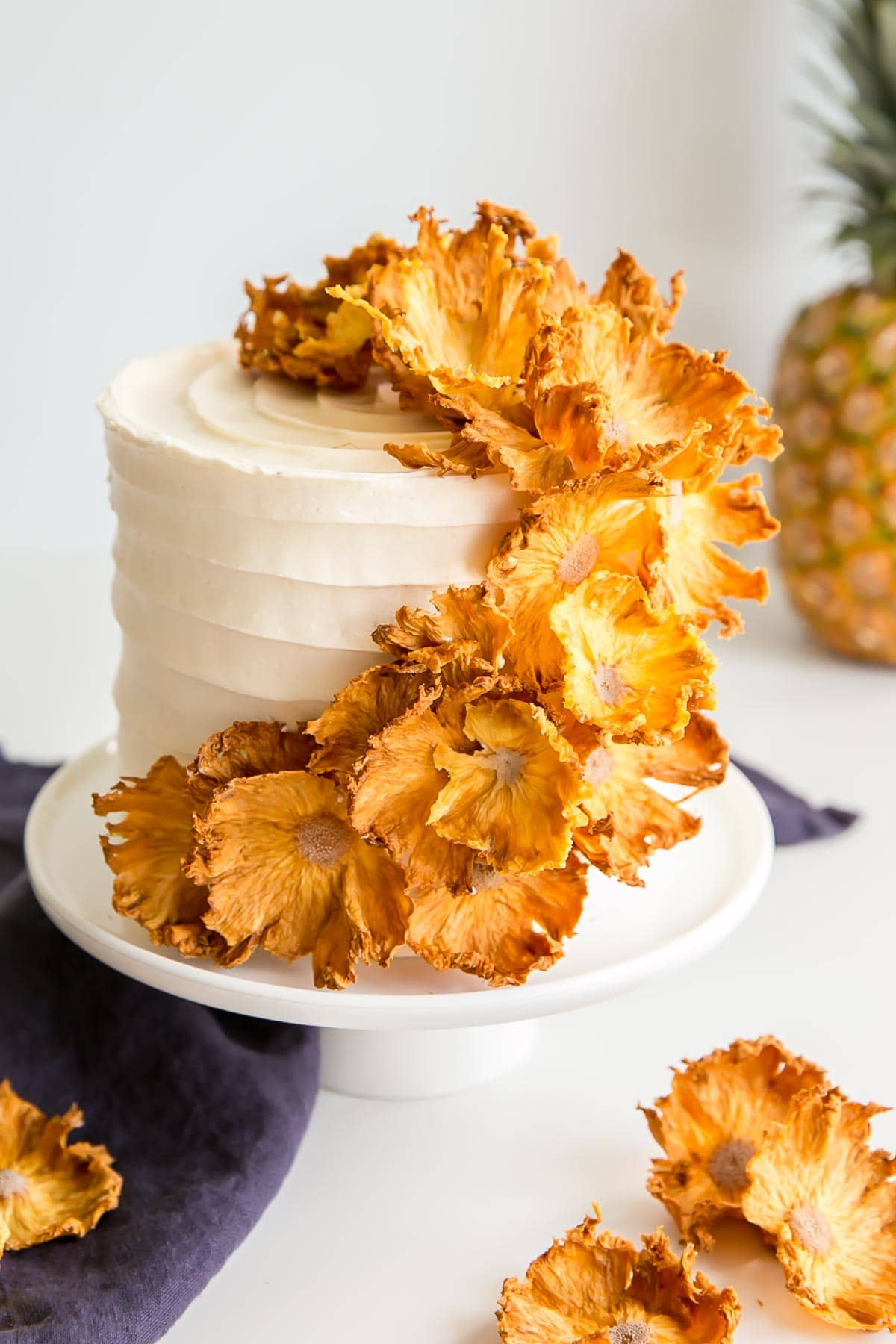 Pineapple Cake With Dried Pineapple Flowers Liv For Cake