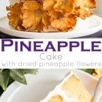 This Pineapple Cake is the perfect tropical dessert for summer! Pineapple infused cake layers, fresh pineapple, and pineapple buttercream.   livforcake.com