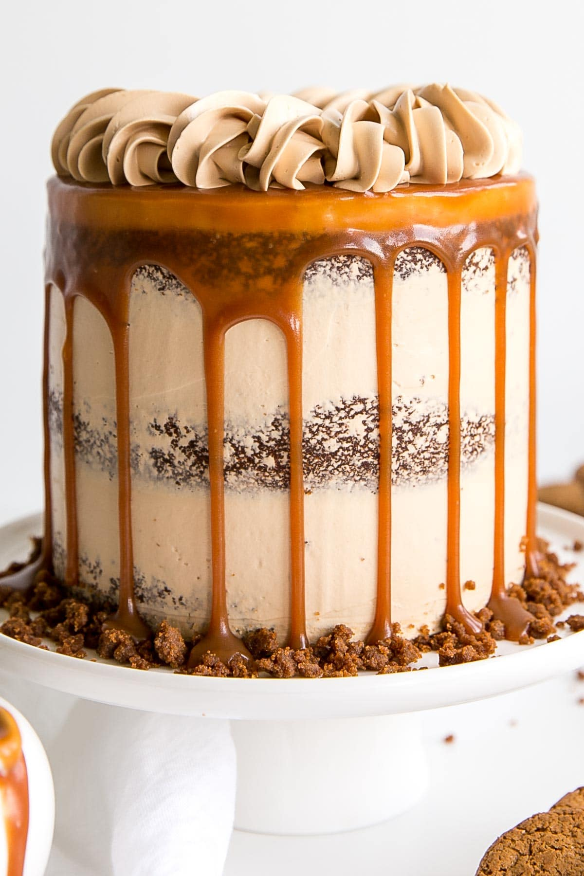 Close up showing caramel drip