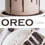 Oreo cake photo collage