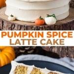 Pumpkin spice latte cake photo collage