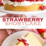 This Strawberry Shortcake Cake gives a new twist to an old classic. Vanilla cake layers, fresh strawberries, and mascarpone whipped cream! | livforcake.com