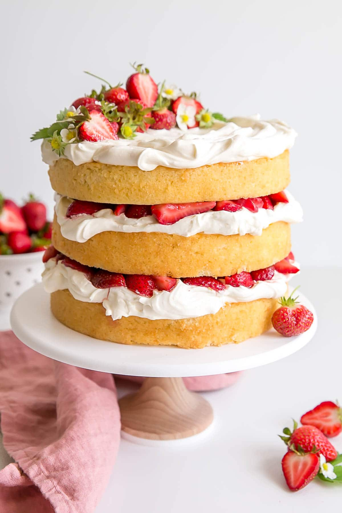 Classic Strawberry Shortcake in Cake form.
