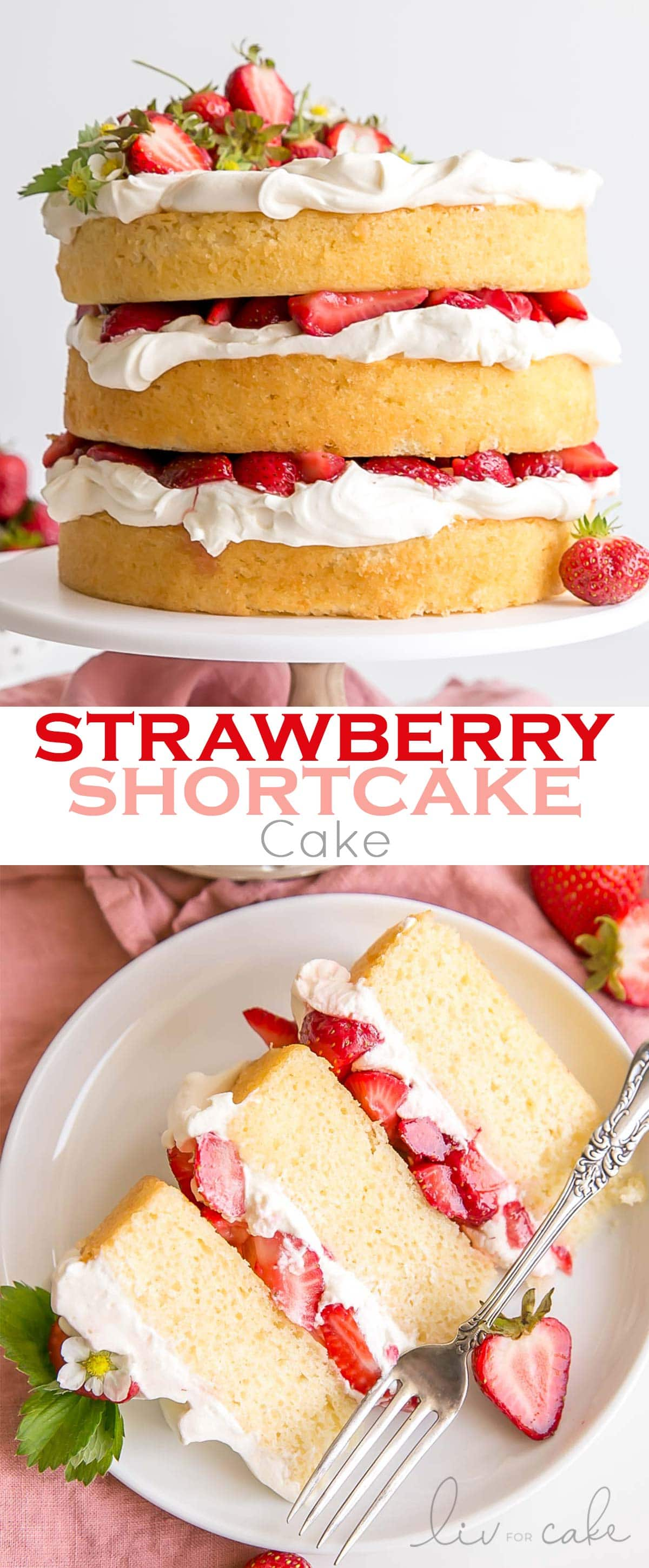 Strawberry Shortcake Cake collage