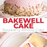 This Raspberry Almond Cake is my version of the classic Bakewell Tart in cake form. Almond cake layers, almond & raspberry buttercream, with fresh raspberries and almond slices. The perfect Bakewell Cake!