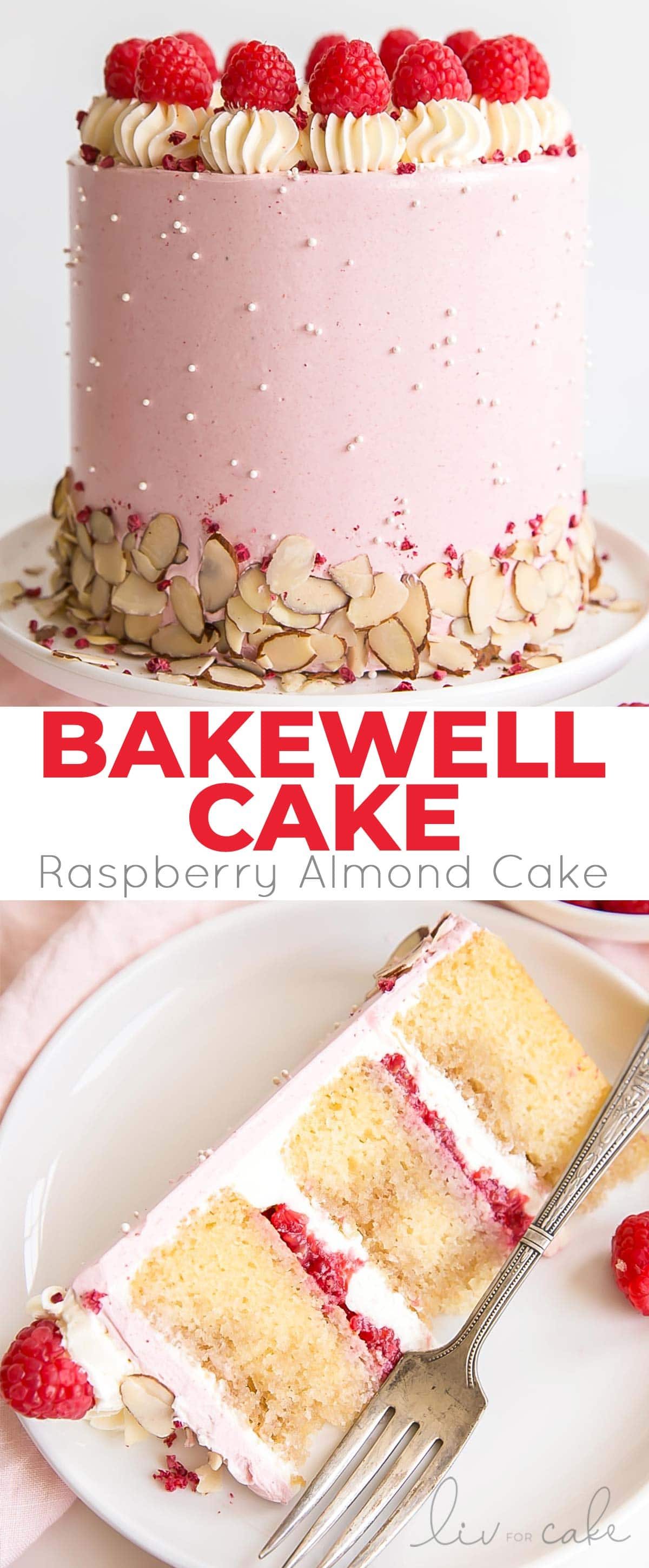 Bakewell cake collage