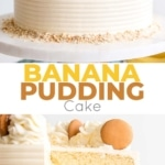 This Banana Pudding Cake combines all of the elements of the classic southern dessert. Vanilla cake, banana pudding, and vanilla wafers with vanilla buttercream and fresh whipped cream.   livforcake.com