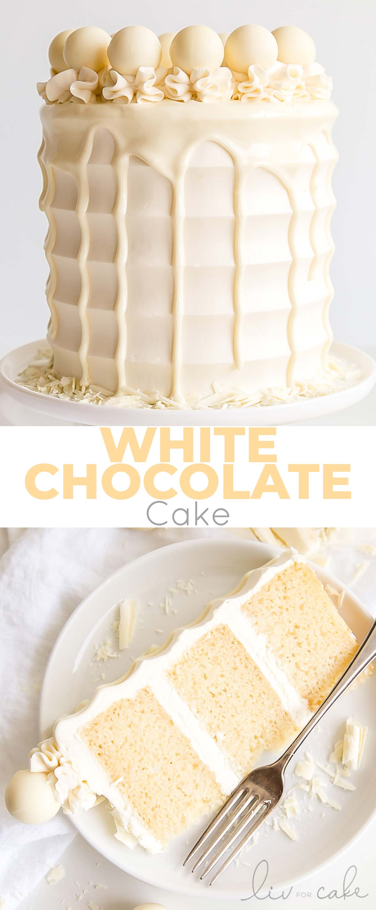 White Chocolate Cake collage