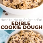 This easy edible cookie dough recipe is the perfect sweet treat! Eggless cookie dough with heat-treated flour makes it safe for everyone to eat! | livforcake.com